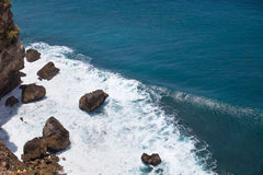 Rocks and waves. View rocks and waves in Bali Royalty Free Stock Photography