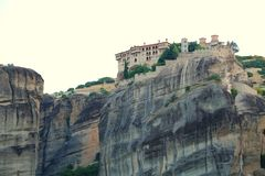 The rocks on which there are monasteries of Meteora Stock Photo
