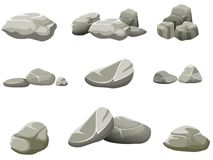 The rocks on a white background Royalty Free Stock Photo