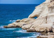 Rocks of white limestone Stock Photos
