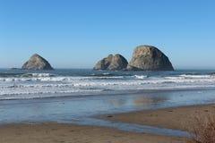 Rocks Wildlife Refuge Oregon Coast Royalty Free Stock Photography