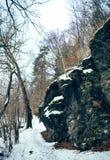 Rocks in winter Stock Photo