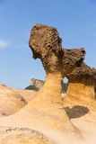 Rocks in Yehliu Geopark Stock Photo