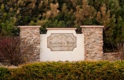 Rocksbury grani sąsiedztwa znak Fotografia Royalty Free