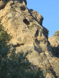 Rockscape against blue sky Stock Image