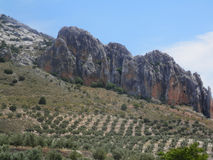 Rockscape in Jaen Province Royalty Free Stock Photography