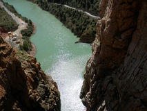 Rockscape in Water filled gorge Stock Image