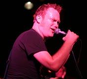 rockstar τραγουδώντας στάδιο Στοκ Εικόνες