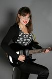 rockstar женщина Стоковые Изображения
