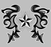 Rockstar Abstract ontwerp, t-shirt - jasjeontwerp Royalty-vrije Stock Afbeeldingen