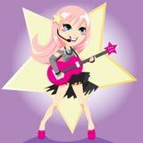 rockstar flicka royaltyfri illustrationer