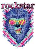 Rockstar lion Stock Photo