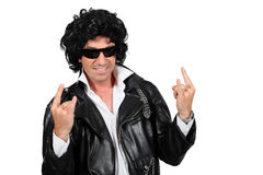 Rockstar. Man dressed as a rockstar Royalty Free Stock Photography