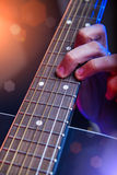 Rockstar Playing Live solo on Guitar Stock Image