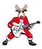 Rockstar Reindeer  Cartoon Royalty Free Stock Photography