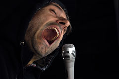 Rockstar singing Royalty Free Stock Images