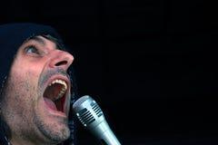 Rockstar singing Royalty Free Stock Photo