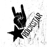 Rockstar symbol with sign of the horns gesture Stock Photo