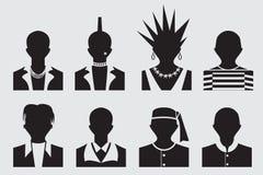 Rockstar und des Gefangenen Avatara des Hippies, des Punks, des emo, lizenzfreie abbildung