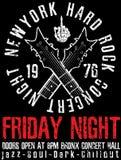 Rockstarweinleserock-and-roll typografisch für T-Shirt; T-Stück DES stock abbildung