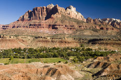 Rockville. The village of Rockville below mount kinesava in Zion National Stock Image