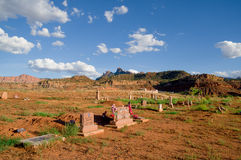 Rockville cemetery in zion national park Royalty Free Stock Image