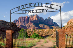 Rockville cemetery in zion national park Stock Photo