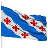 Rockville City Flag on Flagpole, USA Stock Photos