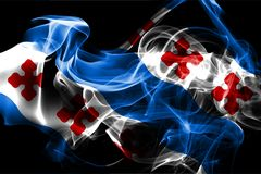 Rockville city smoke flag, Maryland State, United States Of Amer. Ica stock illustration