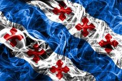 Rockville city smoke flag, Maryland State, United States Of America.  Royalty Free Stock Image