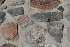 Rockwall, concreted lizenzfreie stockfotos