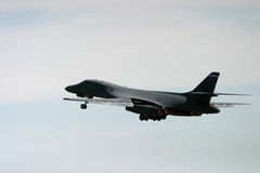 Rockwell B-1 Lancer taking off Stock Photo