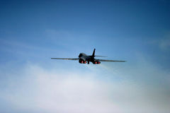 Rockwell B-1 Lancer taking off Stock Image