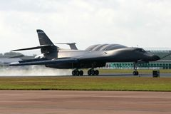 Rockwell B1 Lancer. A Rockwell B1 Lancer touches down royalty free stock image
