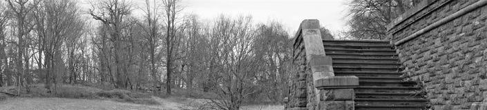 Rockwood arruina panorama en blanco y negro imagen de archivo
