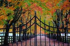 Rockwood-Bauernhöfe im Oktober lizenzfreies stockfoto