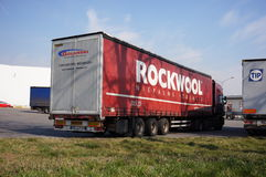 Rockwool transport truck Royalty Free Stock Photography