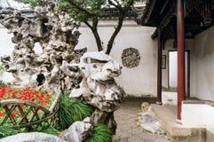 Rockwork dans le jardin de Suzhou Photographie stock libre de droits