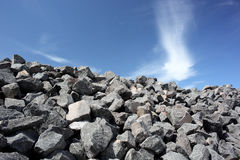 Rocky. Pile of rocks against a blue sky Stock Photo