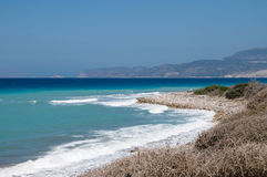 Rocky Aegean coast Royalty Free Stock Images