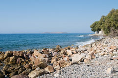 Rocky Aegean coast Stock Photos