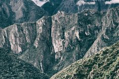 Rocky Andes van Inca Trail aan Machu Picchu peru 3d zeer mooie driedimensionele illustratie, cijfer Stock Foto
