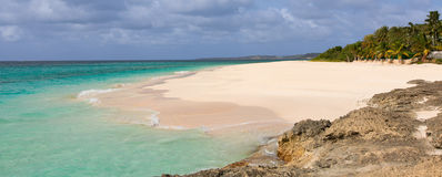 Rocky anguilla beach Royalty Free Stock Image