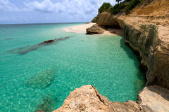 Rocky anguilla beach Stock Photo