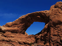 Rocky Arch. This image was taken in the Utah desert at Arches National Park royalty free stock images