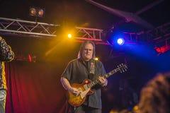 Rocky Atha-het spelen gitaar Royalty-vrije Stock Fotografie