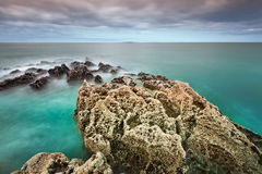 Rocky Atlantic coast in Fanore Royalty Free Stock Images