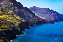 Rocky atlantic coast in the west part of Gran Canaria island Stock Photo