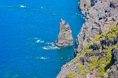 Rocky atlantic coast in the west part of Gran Canaria island Royalty Free Stock Photo