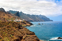Rocky Atlantic ocean coast near Benijo, Tenerife Royalty Free Stock Photo